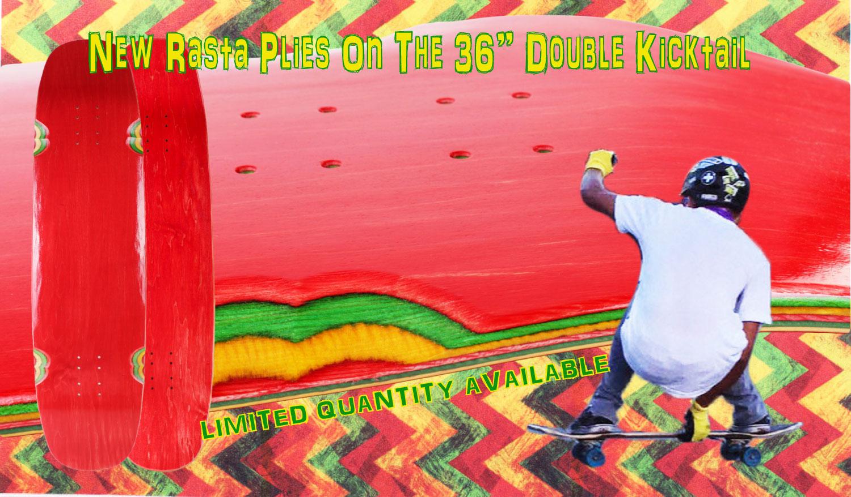 Double kicktail longboard