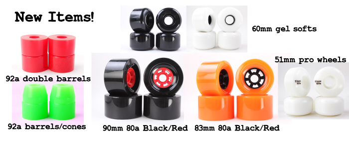 New wholesale bushings and longboard wheels