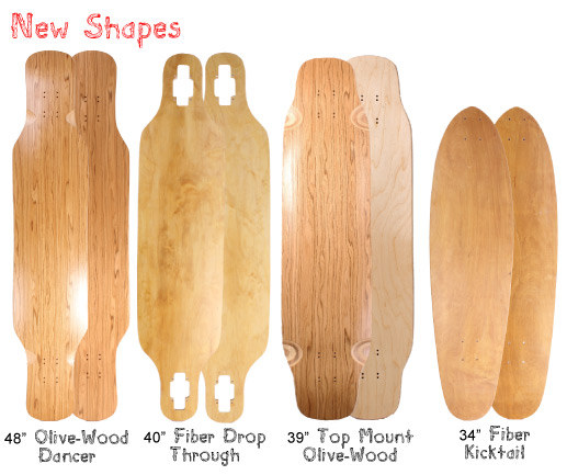 New Longboard Shapes