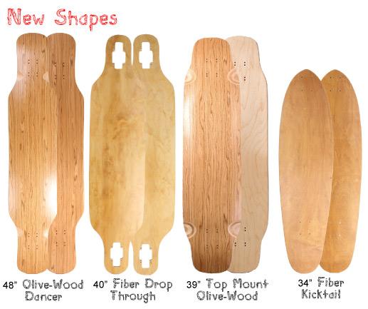 New Longboard Shapes