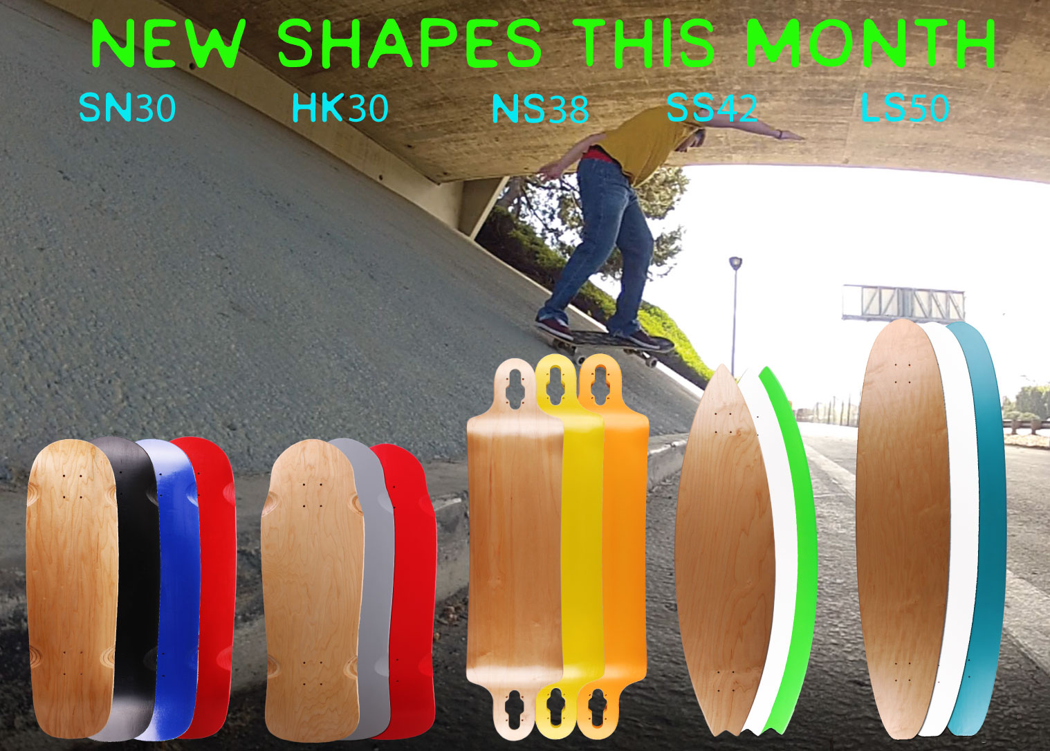 New Old School And Longboard Shapes